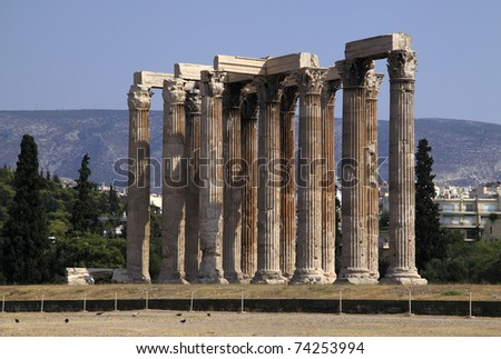 "Greece Athens  ""Temple of Zeus"" ruins"