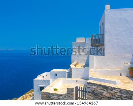 Greece Sifnos,Colorful sea view on the island
