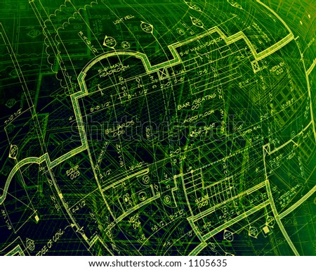 green abstract plans
