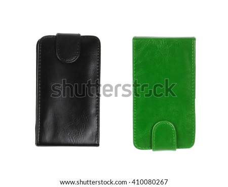 green and black wallet isolated
