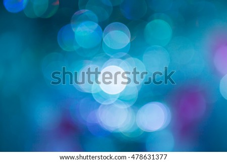 green and blue blur Bokeh background in wedding party