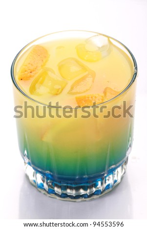 green and yellow cocktail