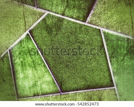 Green artificial grass texture in abstract frame