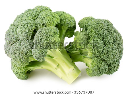 green broccoli isolated on the white background