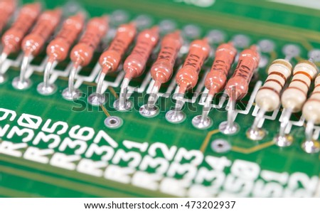 Green circuit board without components