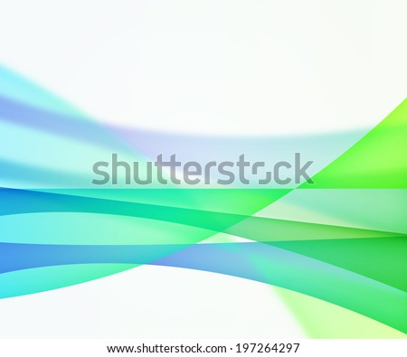 Green Colorful Abstract Wave Background Image