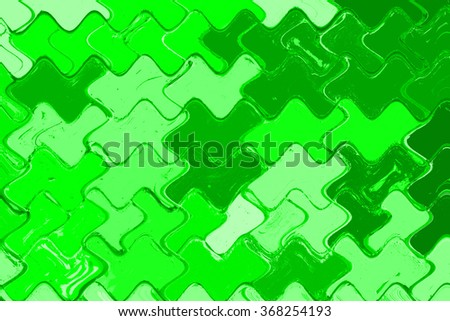 green Colorful puzzle background abstract