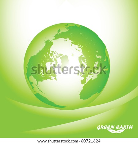 Green Earth Background Illustration
