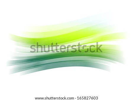 Green gradient painted brush stroke background