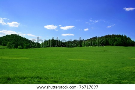 Green Landscape Tuscany Italy Stock Photo 105947084 ...