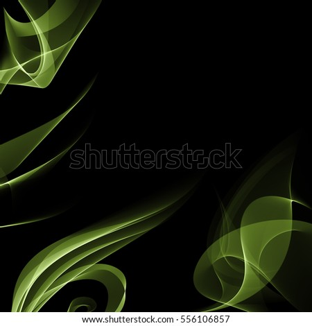 green lime color digital abstract smoke background. digital ink spill black background.digital liquid splash. digital fluid scatter. fluid drip