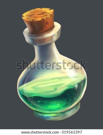 Green Magic Potion UI
