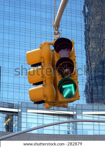 Green means go! Green Arrow Traffic Light could be used for business production