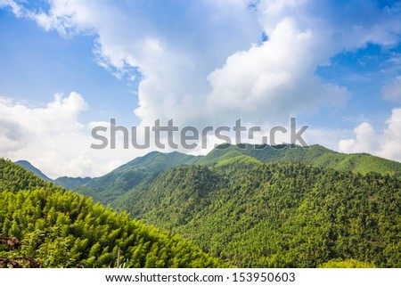 green mountain under blue sky