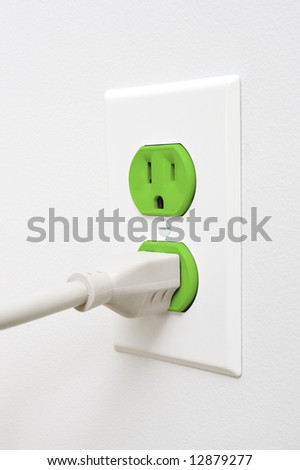 Green outlet with plug