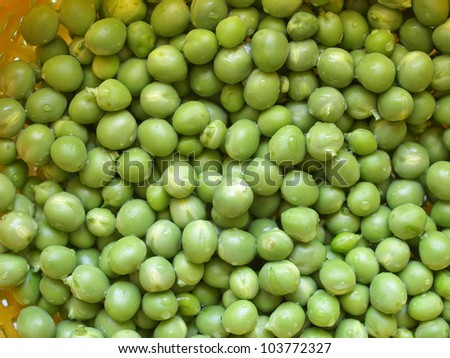 Green peas useful as a food background
