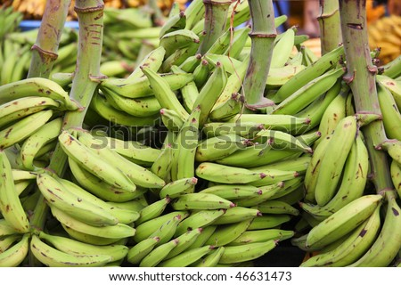 Green plantains (bananas)