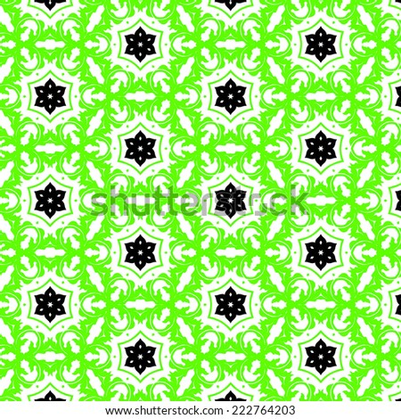 green seamless retro abstract pattern