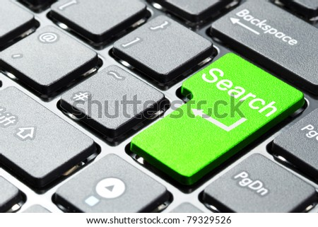 Green search button on the keyboard