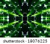 green shines from distorts - stock photo