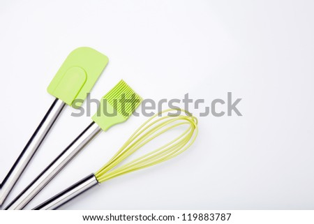 Green silicone cooking Utensils