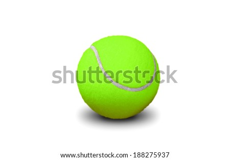 green tennis ball isolated on white
