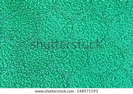 Green towel material as a detailed background image