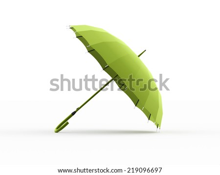 Green umbrella concept rendered isolated