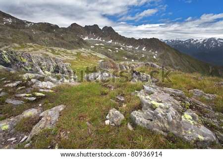 Green Valley. Panorama by the top of Bighera Valley. Brixia province, Lombardy region, Italy