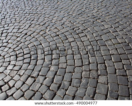 Cobbled road background on sunset stock photo 273095705 for Cobblestone shutters