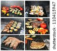grilling food - stock photo