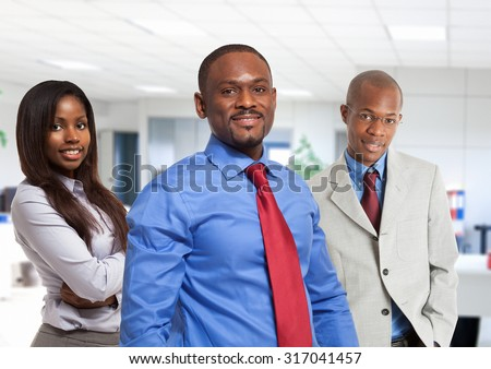 Group of afro-american business people