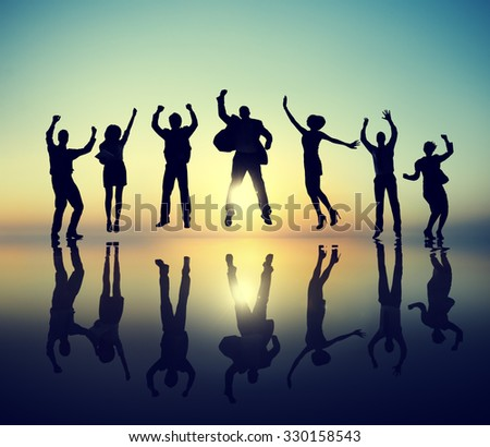 Group of Business People Celebration Success Concept