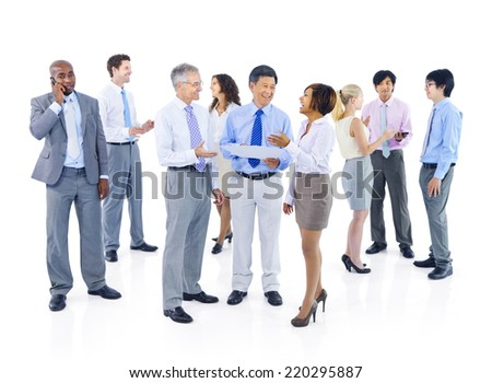 Group of Business People Discussion
