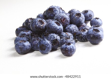 group of classic blueberry on white board background