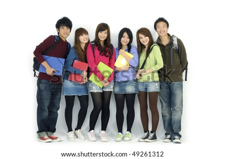 Group of college or university students