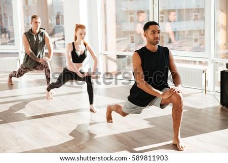 yoga practice exercise class concept stock photo 536289499