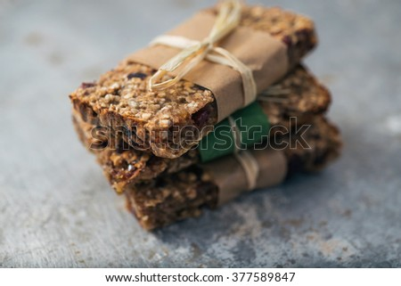 Group of delicious granola bars