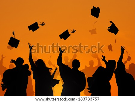 Group Of Diverse International Students Celebrating Graduation