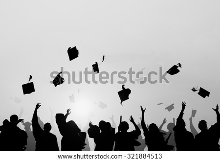 Group Of Diverse Students Celebrating Graduation