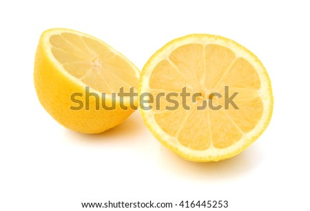 Group of fresh lemons on white background