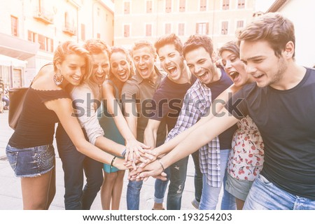 Group of Friends Together, Teamwork Concept