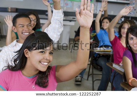 free photo of girls raising hands № 21287