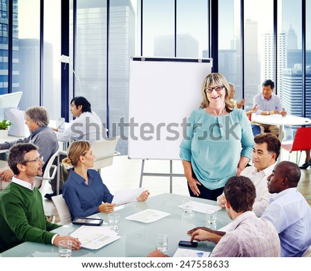 Group of People in a Meeting