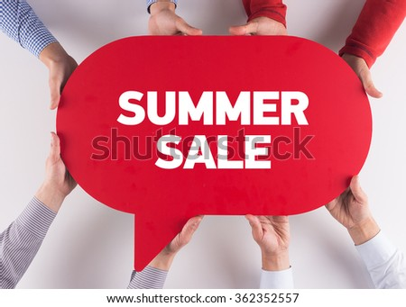 Group of People Message Talking Communication SUMMER SALE Concept