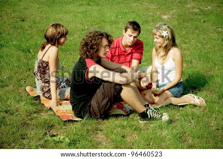 group of teenagers outdoors