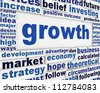 Growth poster design. Slogan growth message background - stock photo