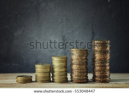 Growth Stacked Coins