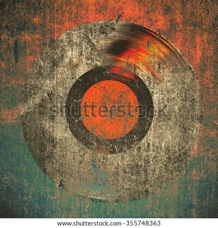 grunge background gramophone record