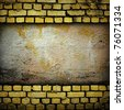 grunge brick wall - stock photo